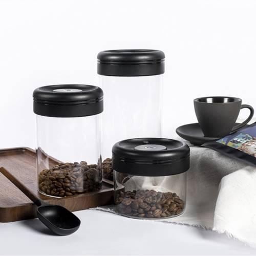 TIMEMORE 泰摩 真空保鮮玻璃密封罐-1200ml(黑)