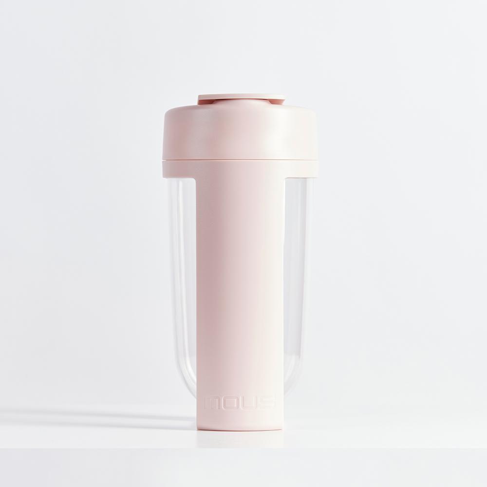 MOUS|澳洲 Fitness運動健身搖搖杯-腮紅粉 免鋼球大口徑蛋白粉健身奶昔乳清專用Ttita材質
