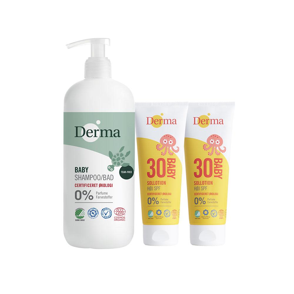Derma|寶寶炎夏沐浴防曬組