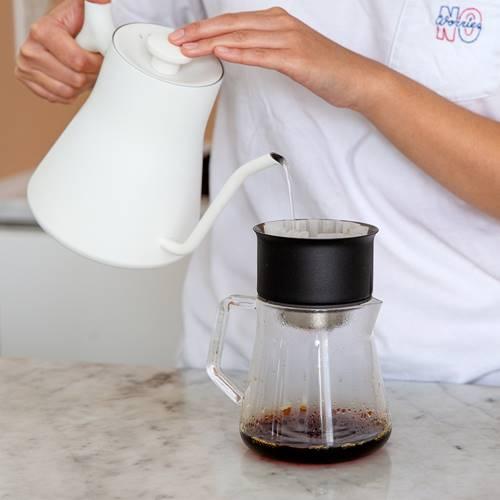 FELLOW|Mighty Small 咖啡玻璃濾壺 (寂靜黑)手沖壺分享壺