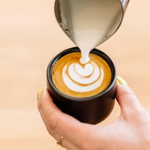FELLOW|MONTY 雙層陶瓷咖啡杯2入組 – 3oz濃縮杯拉花杯-霧面白/啞光黑