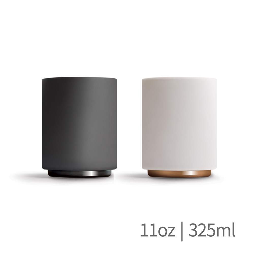 FELLOW|MONTY 雙層陶瓷咖啡杯– 11oz拿鐵杯拉花杯-霧面白/啞光黑