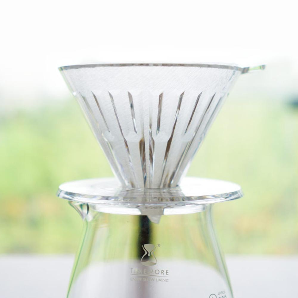TIMEMORE 泰摩|冰瞳手沖咖啡套裝組       (玻璃分享壺360ml+PC濾杯01號1~2人份)