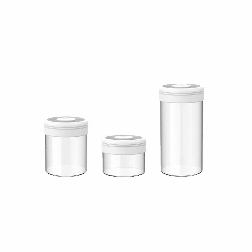 TIMEMORE|泰摩真空保鮮玻璃密封罐-三入組(白)