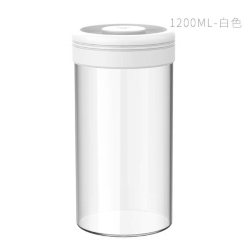 TIMEMORE 泰摩真空保鮮玻璃密封罐-1200ml(白)