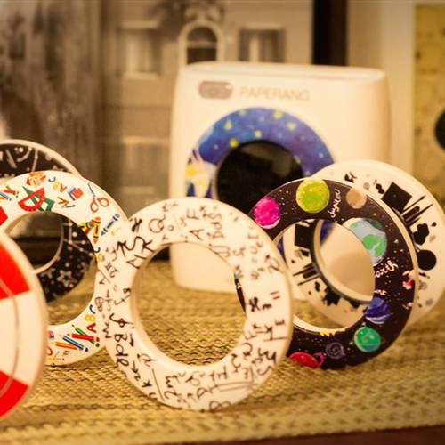 Paperang|二代P2 口袋列印小精靈-喵喵機+ 光圈環 - 絢麗多彩