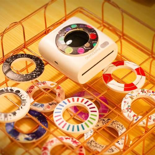 Paperang|二代P2 口袋列印小精靈-喵喵機+ 光圈環 -花樣年華