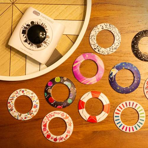 Paperang|二代P2 口袋列印小精靈-喵喵機+ 光圈環 -星光閃閃