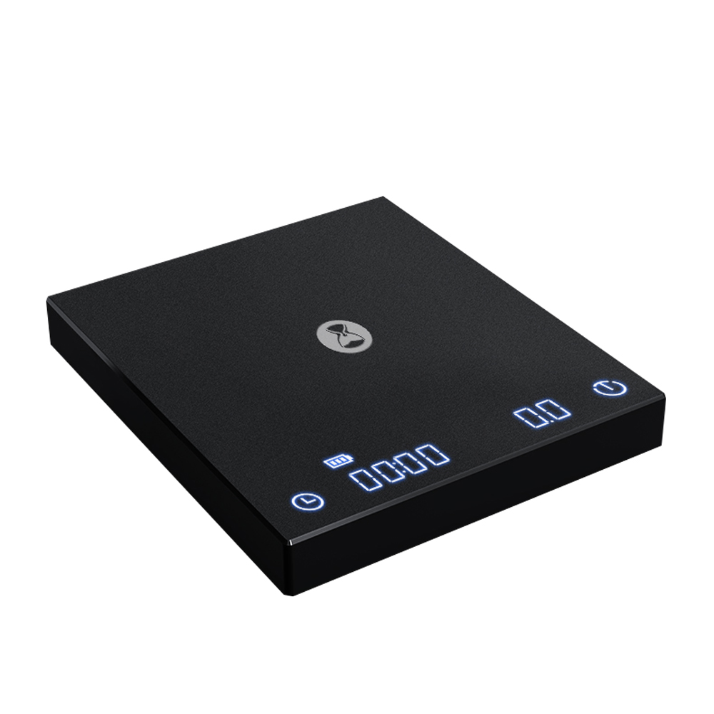 TIMEMORE|泰摩 新版黑鏡手沖大師LED觸控秤重計時電子秤-黑(自動沖煮計時)(杯測計時)