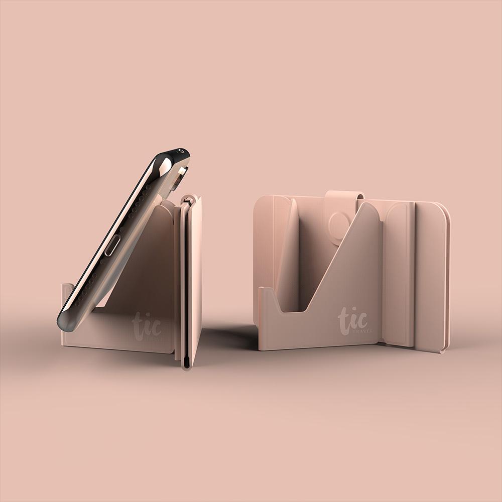 Tic Design|TIC HOLDER 超薄3合1 手機支架卡片口罩收納夾-2入組