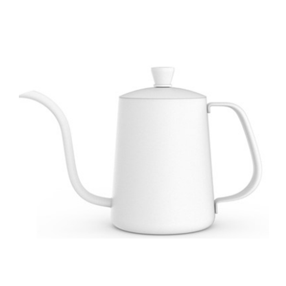 TIMEMORE 泰摩 魚03不鏽鋼咖啡手沖壺細口壺600ml-霧面白/黑