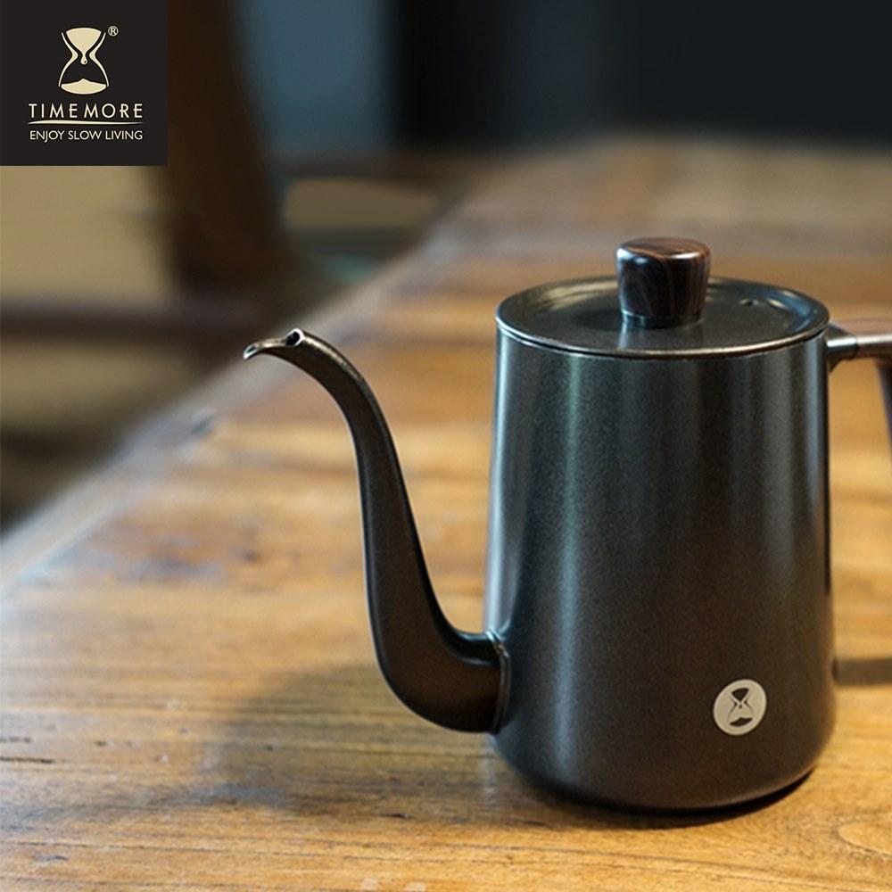 TIMEMORE|泰摩魚04鶴嘴咖啡手沖壺-900ml-黑
