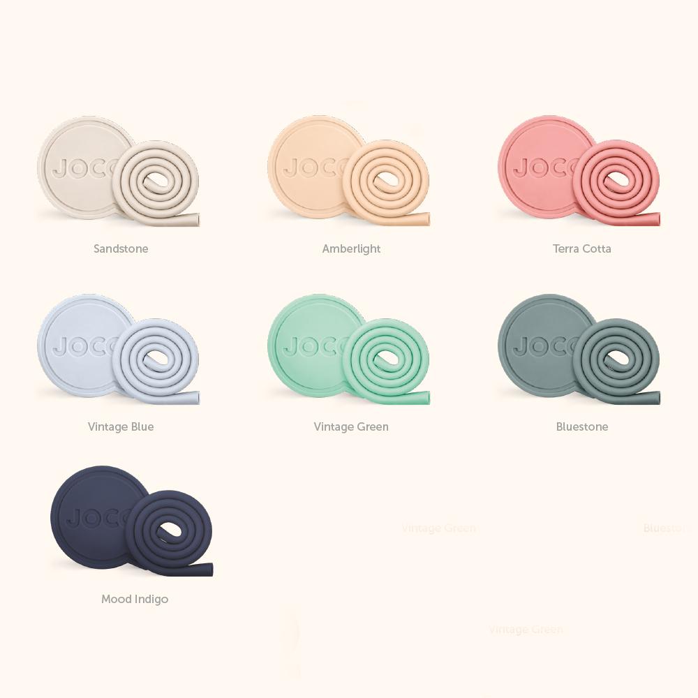 澳洲JOCO 啾口可收納環保矽膠吸管-10吋-四色可選