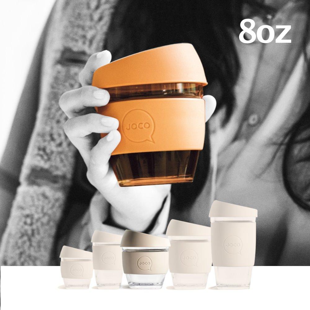澳洲JOCO|啾口玻璃隨行咖啡杯8oz(236ml) 四色任選