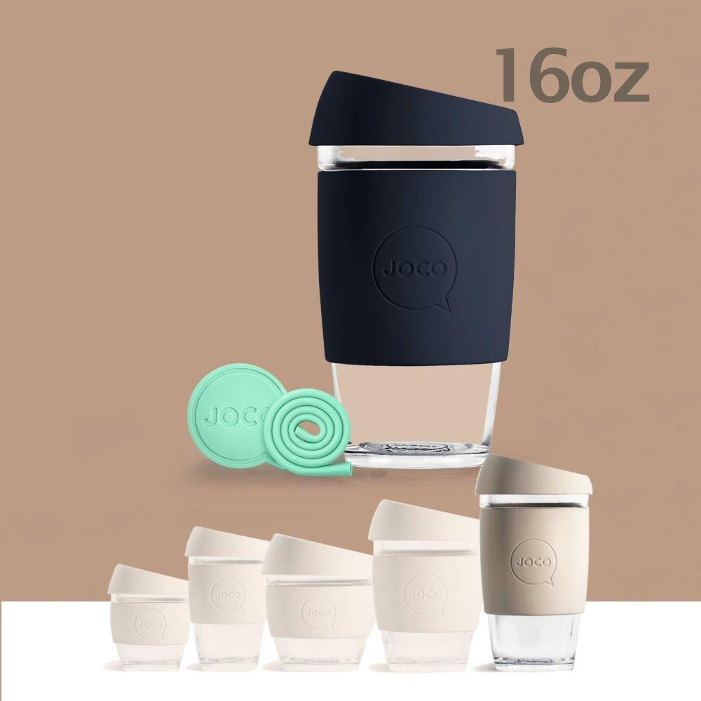 澳洲JOCO 啾口玻璃隨行咖啡杯16oz(473ml) - 七色任選