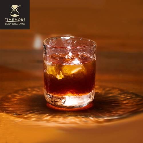 TIMEMORE 泰摩|錘目紋玻璃咖啡杯兩入組-品茶品酒杯