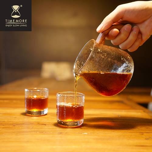 TIMEMORE 泰摩|錘目紋玻璃咖啡分享壺-有柄