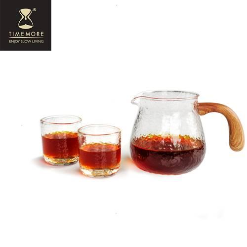 TIMEMORE 泰摩 錘目紋玻璃咖啡分享壺-有柄