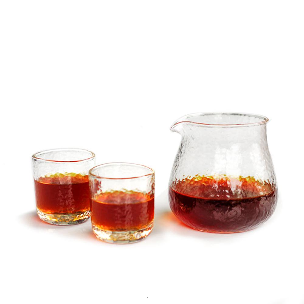 TIMEMORE 泰摩|錘目紋玻璃咖啡分享壺套裝組-無柄