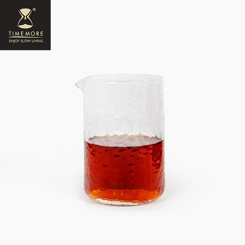 TIMEMORE 泰摩|錘目紋玻璃咖啡分享壺套裝組-直立無柄