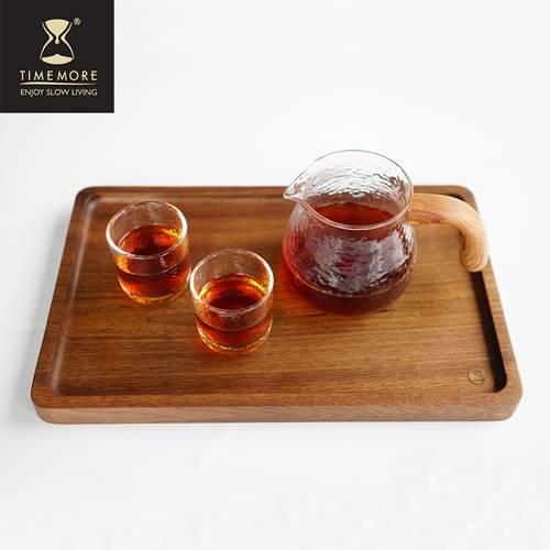 TIMEMORE 泰摩|錘目紋玻璃咖啡分享壺套裝組-有柄