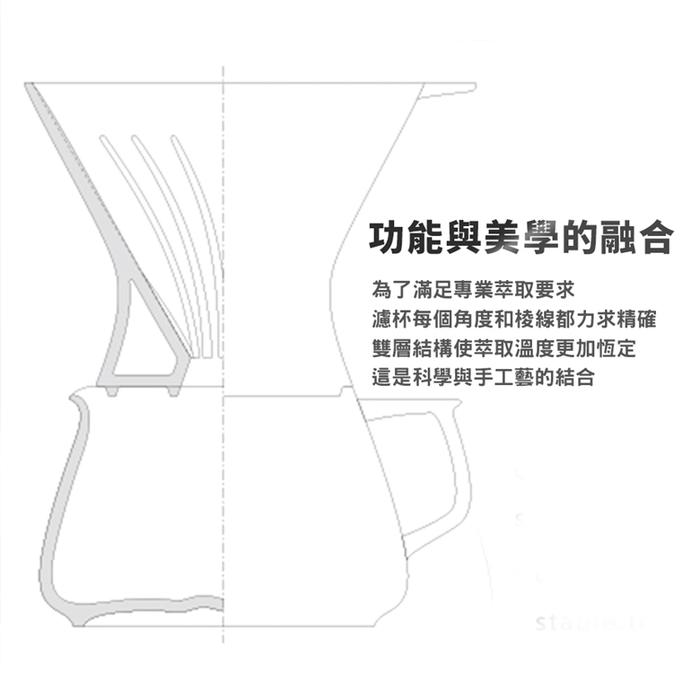 TIMEMORE 泰摩|天目陶瓷手沖咖啡壺五件套裝組-玄鐵黑