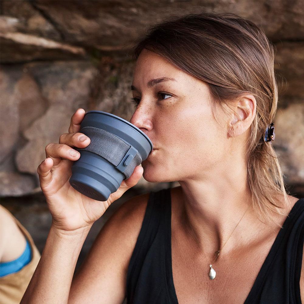 HUNU 環保摺疊口袋杯-碳灰