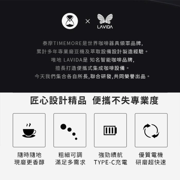TIMEMORE 泰摩|GRINDER go研磨師便攜式電動磨豆機(栗子Go)-磨砂黑