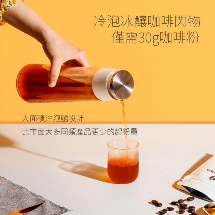 TIMEMORE 泰摩|冷泡咖啡冰錐瓶600ml-白(冷泡壺/冷泡茶/冷泡瓶)