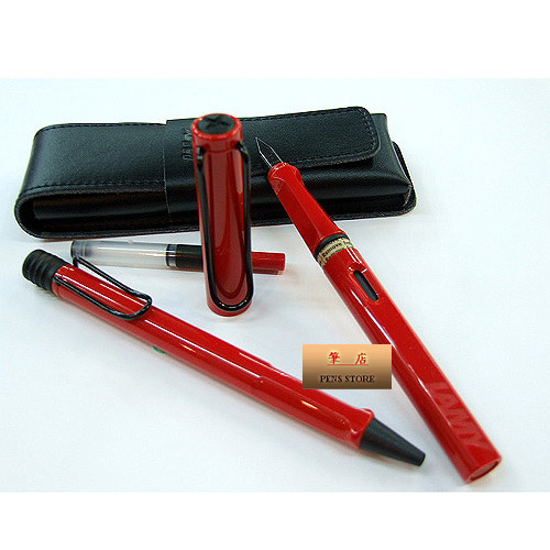 LAMY│狩獵者系列 紅鋼筆+原子筆禮盒對筆組