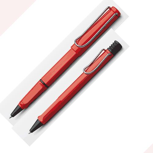 LAMY│狩獵者系列 紅原子筆+鋼珠筆對筆組