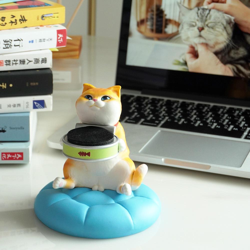 FIBER WATCH|貪吃小貓療癒錶座-(小肥橘)