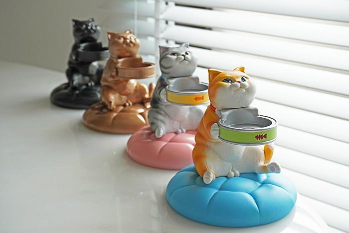 【集購】FIBER 貪吃小貓療癒錶座