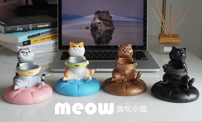 FIBER 貪吃小貓療癒錶座-小肥橘