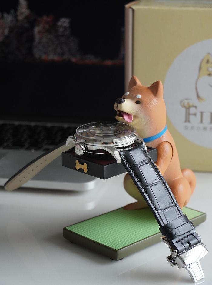 (複製)FIBER WATCH|貪吃小貓療癒錶座-(古銅金)