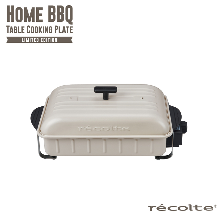 recolte日本麗克特|Home BBQ 電烤盤 牡蠣白