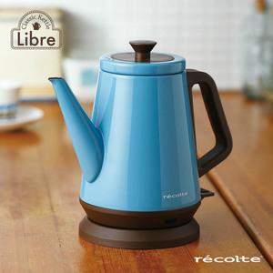 recolte日本麗克特|Libre 經典快煮壺 土耳其藍 0.8L-甜心夏于喬推薦