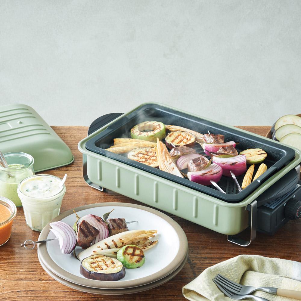 recolte日本麗克特|Home BBQ 電烤盤 貝殼綠