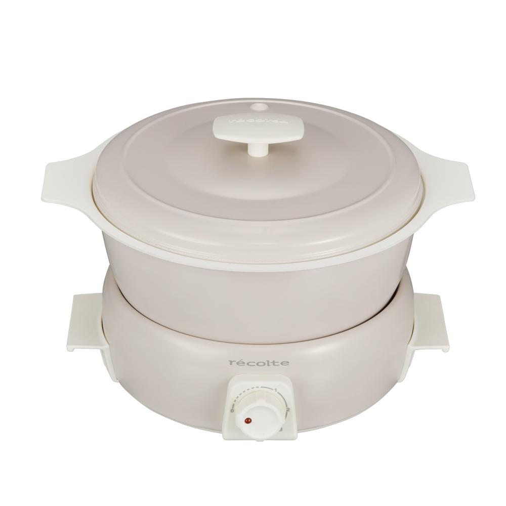 recolte日本麗克特|Tanto調理鍋1.9L(含章魚燒烤盤)