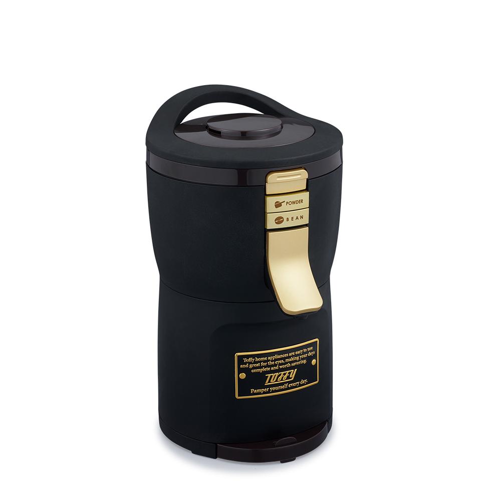 日本Toffy|Aroma 自動研磨咖啡機 K-CM7 質感黑