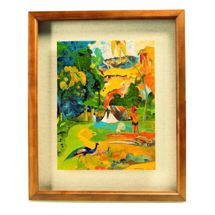俄羅斯普希金博物館特展|複製陶瓷版畫-保羅‧高更《有孔雀的風景》