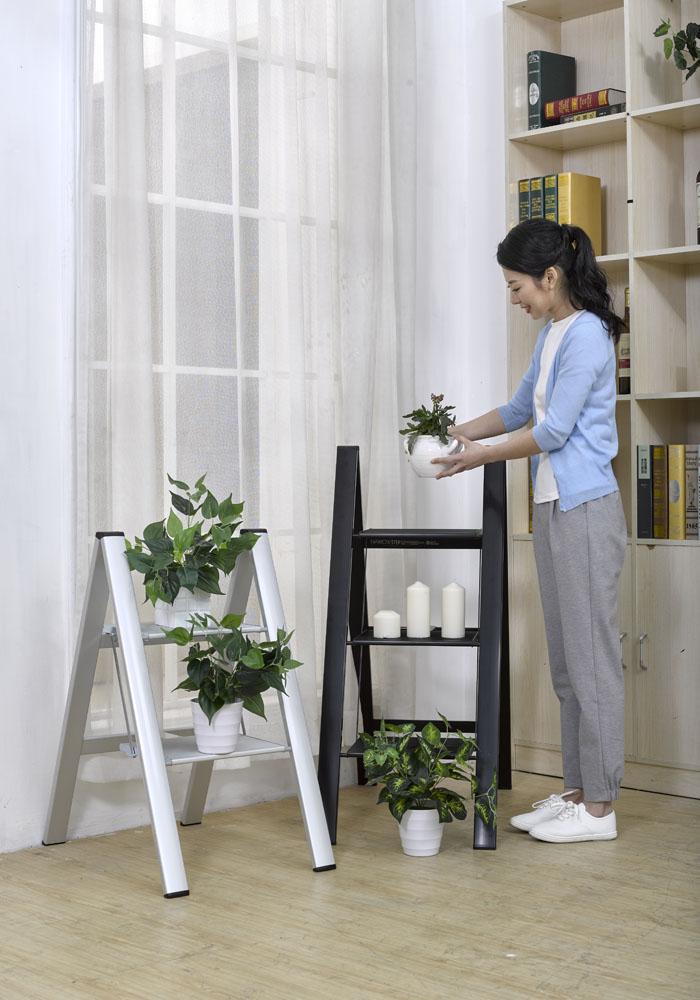 【長谷川Hasegawa設計好梯】SJ-5BKA 設計踏台/工作梯(黑色)-2階(56cm)