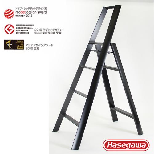 長谷川|Lucano設計傢俱梯 四階黑色-4階(108cm)