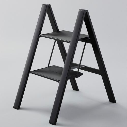 長谷川Hasegawa| SJ-5BKA 設計踏台/工作梯(黑色)-2階(56cm)