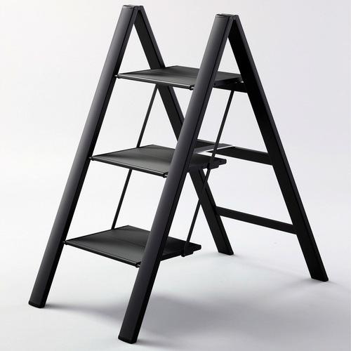 長谷川Hasegawa|SJ-8BKA 設計踏台/工作梯(黑色)-3階(78cm)