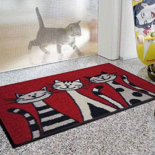 kleentex|居家設計地墊-Three Cats