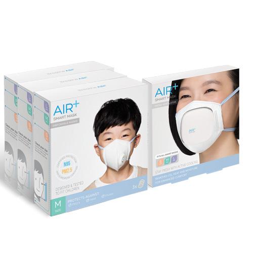 AIR+ | 氣益佳智慧型口罩3+1入組風扇