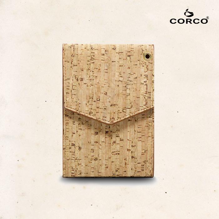 CORCO|簡約掛頸軟木皮夾 - 原棕色(含掛繩)