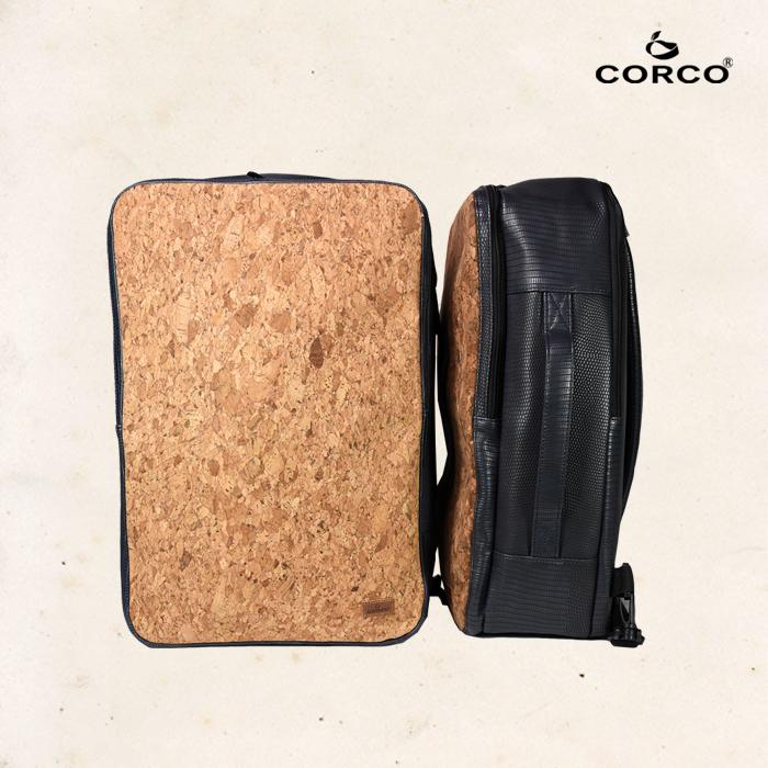 CORCO|軟木雙肩兩用後背包 - 海軍藍