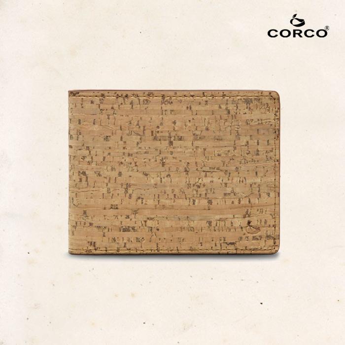 CORCO|簡約軟木短夾 - 原棕色